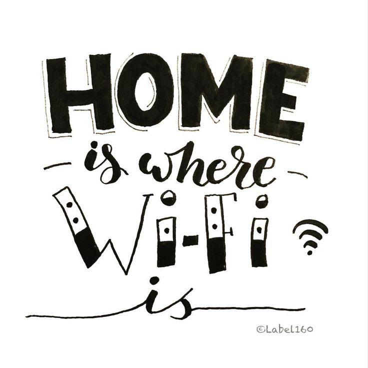 67 vind-ik-leuks, 3 reacties - Label160 (@label160_handlettering) op Instagram: '#homeiswherewifiis #handlettering #handletteren #becreative #handwritten #handgeschreven #handmade…'