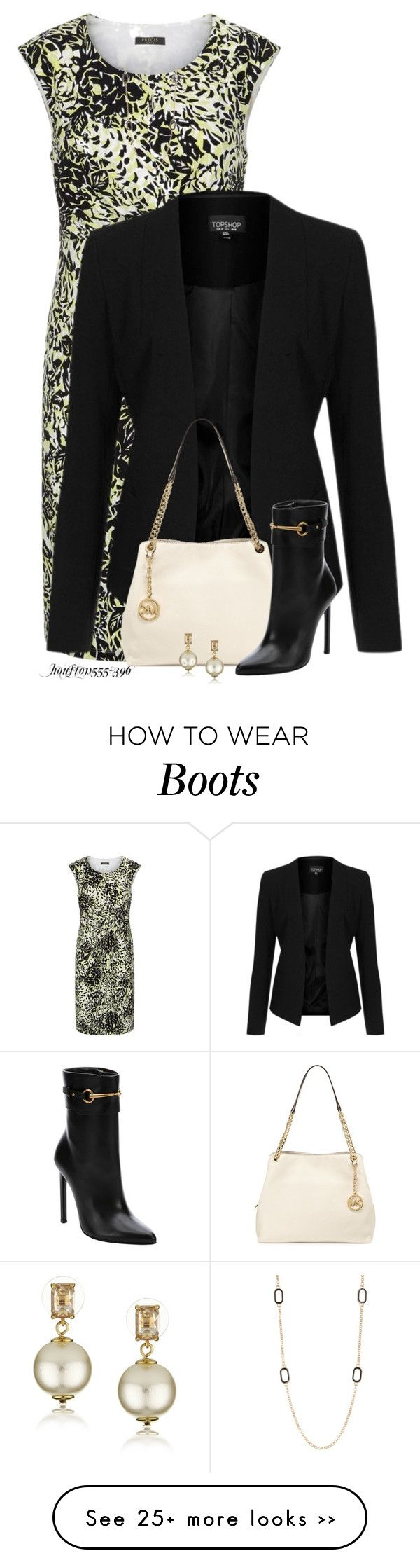 """""""Gucci Boots"""" by houston555-396 on Polyvore featuring Mode, Precis Petite, Topshop, MICHAEL Michael Kors, Gucci, Kate Spade und Nordstrom Rack"""