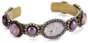 "Liz Palacios ""Piedras"" Swarovski Crystal and Cabochons Thin Cuff Bracelet Liz Palacios. $190.00"