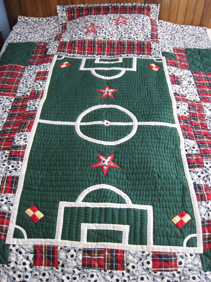 Quilt Patterns For Sports : 1000+ ideas about Football Quilt on Pinterest Quilting, Sports Quilts and Baseball Quilt