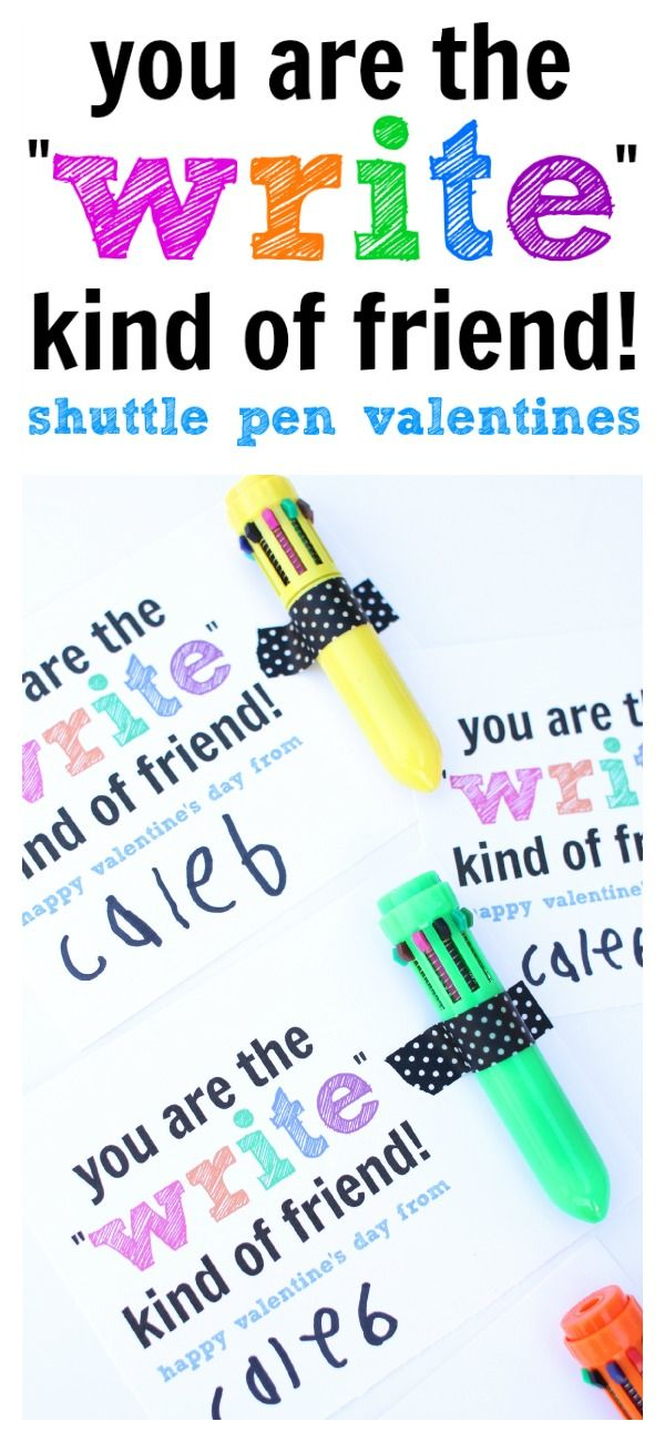 You are the WRITE Kind of Friend Kids Valentine. See more on www.prettymyparty.com.