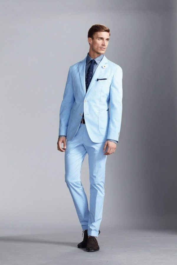 Pale Blue Mens Suit | My Dress Tip