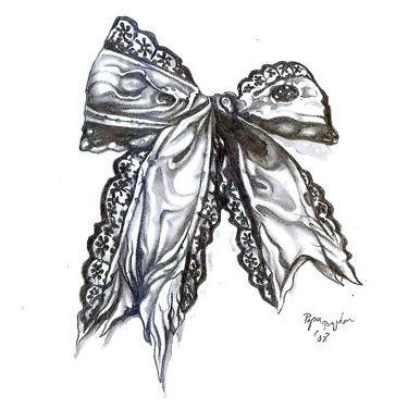 Sexy Bow Tattoo Design