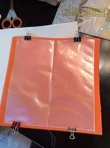DIY tutorial. Make your own tract or document holder by KillerBeeQuilts, via Flickr