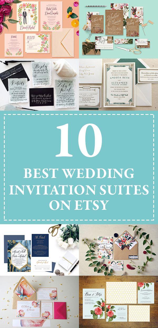 We've rounded up the 10 best Etsy shops for wedding invitation suites | Junebug Weddings