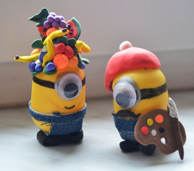 "DIY Minions - from ""kinder surprise eggs"" :D"