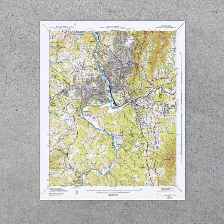 North America Map Outline Printable%0A Asheville  NC      USGS Map
