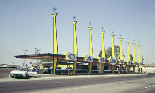 thatkidfromthatplace: Car Washes of Los Angeles, 1965 — George...