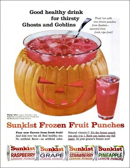 Sunkist Frozen Fruit Punches, 1960