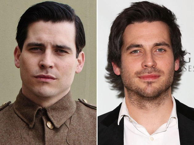 With facial scruff and a shaggy hairdo, we're happy to see Rob James-Collier look a bit less evil when he's not in character as scheming footman Thomas. Plus, we barely recognize him without a cigarette hanging out of his mouth.