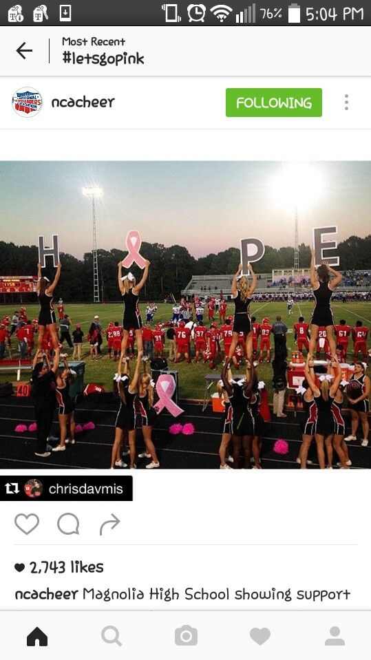 cool signs for pink out game #cheerleading #pinkout
