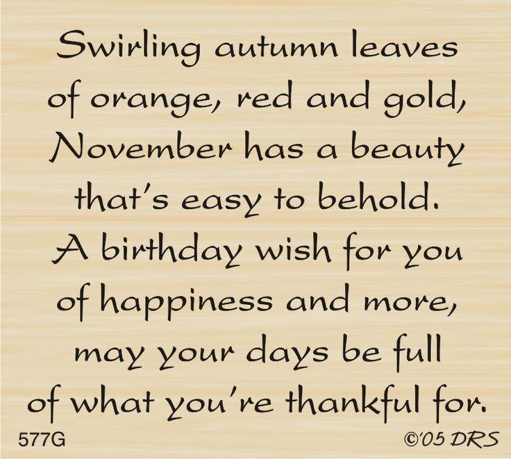 DRS Designs - November Birthday Greeting, $10.00 (http://www.drsdesigns.com/november-birthday-greeting/?page_context=category