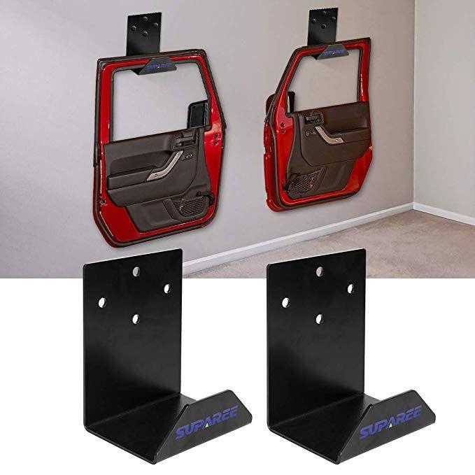 Amazon Com Suparee Jeep Door Hanger Bracket Compatible With Jeep Wrangler Jl Jk Jku Tj Cj 1 Set 2 Hangers 2 Door Automotiv Jeep Doors Wrangler Jl Jeep Jl