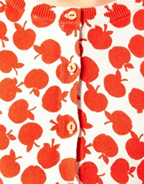 Love the cute apple print.  Asos Apples, Apples Orchards, Apples Prints, Apples Cardigans