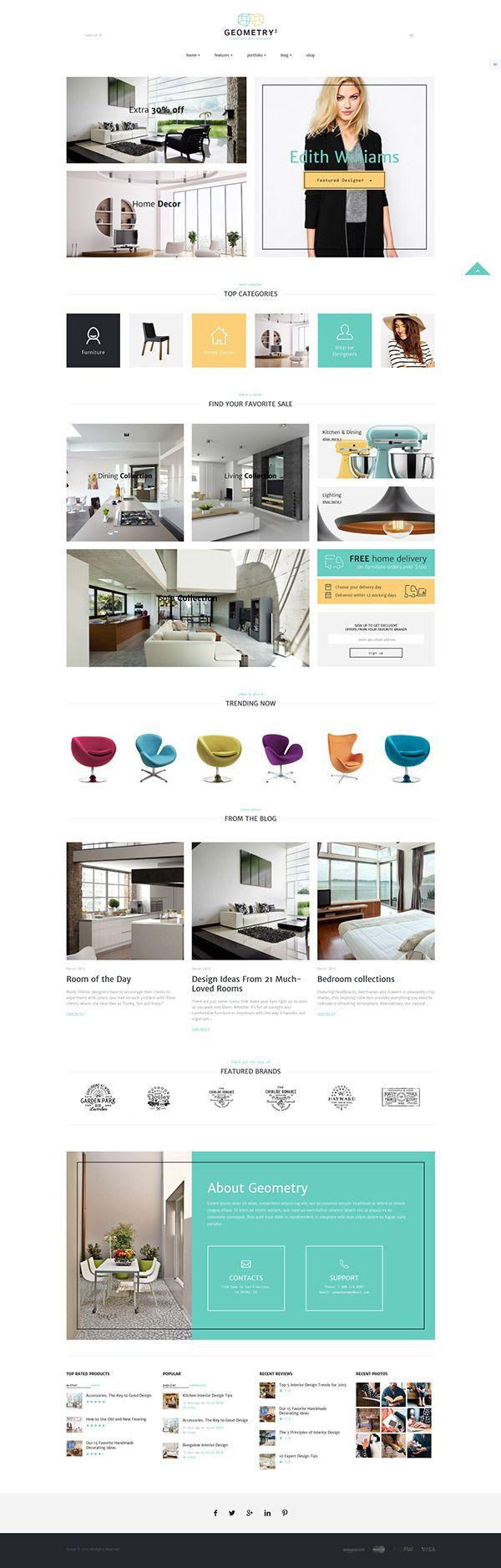 55 best Furniture Website Design images on Pinterest | Design ...