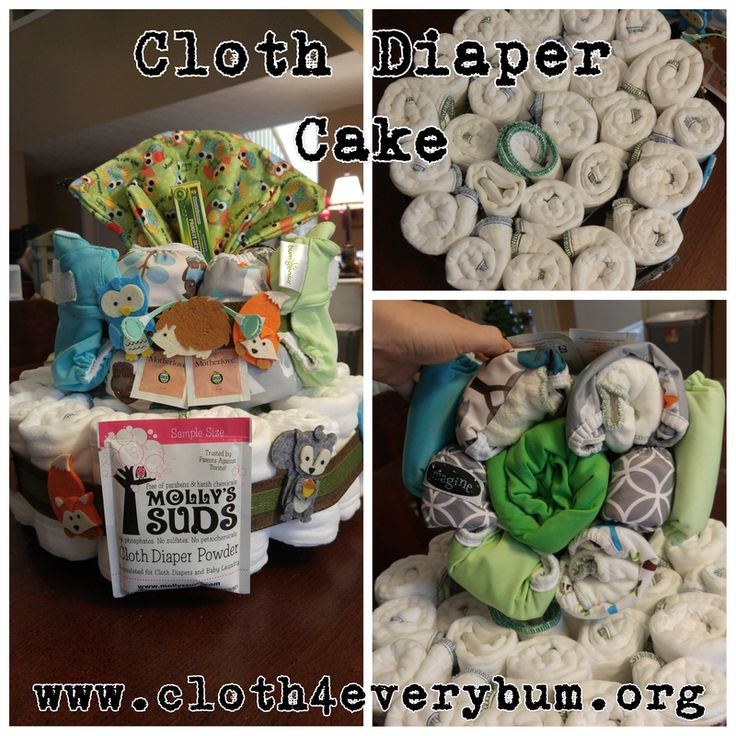 Cloth Diaper Cake Tutorial  Baby Shower Baby Nursery Resuable Baby Products  Cloth for Everybum