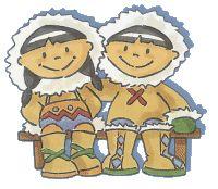 Imagenes niños esquimales para imprimir , con estas imagenes podrás realizar trabajos escolares o manualidades sobre el polo norte sus habit...