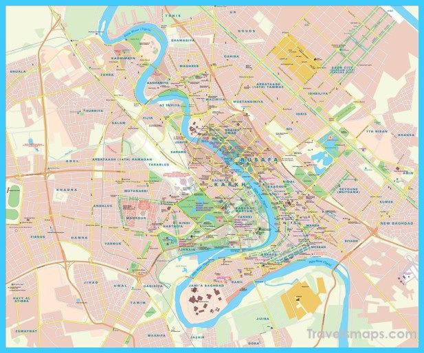 map of baghdad vacations travel map holiday