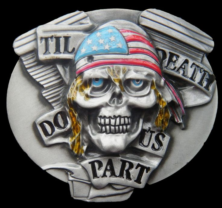 Skull Bullet Ghost Skeleton USA Hat Tll Death Do Us Part Belt Buckle Buckles #skull #tilldeath #tildeathdouspart #skeleton #skullbuckle #evil #beltbuckle #buckles