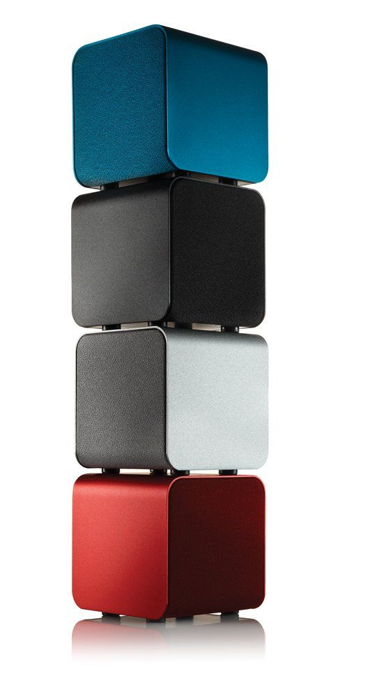 The 2.3-inch, three-watt NuForce Cube is the smallest, loudest portable speaker available. The speaker driver is controlled by a high-strength neodymium magnet, which prevents the entire housing from shaking at high volumes. NuForce Cube $119