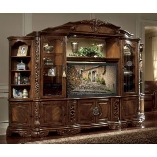 Excelsior Entertainment Unit 6pc By Aico Michael Amini