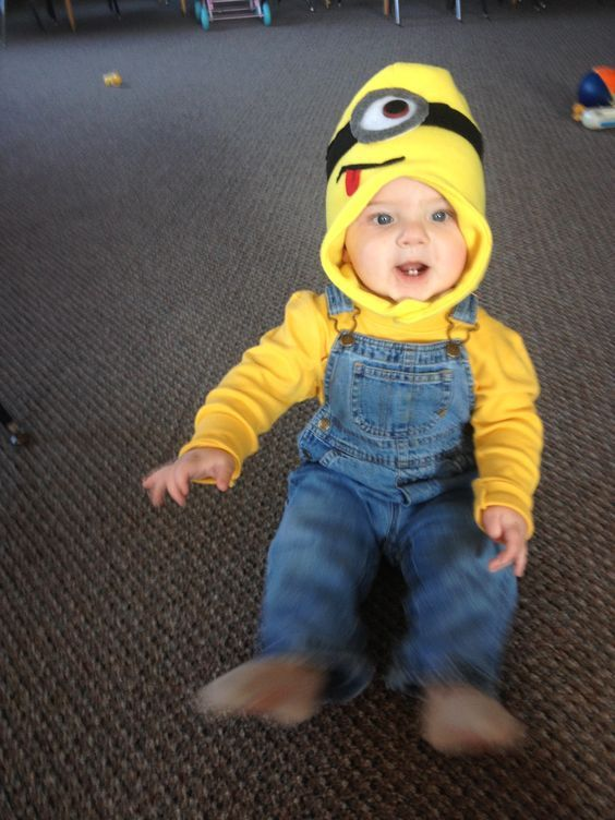 Minion costume for infant boy