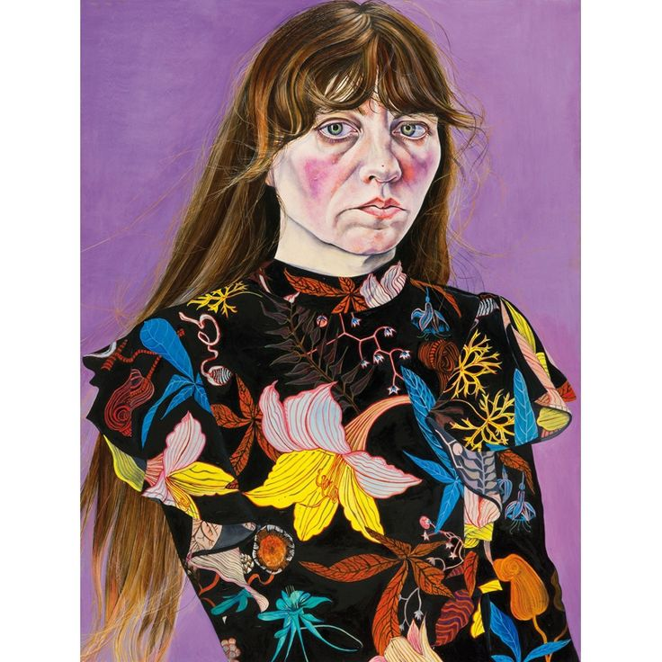 <p>Ishbel Myerscough, <em>Self Potrait in a Flower Dress</em>, 2016</p>