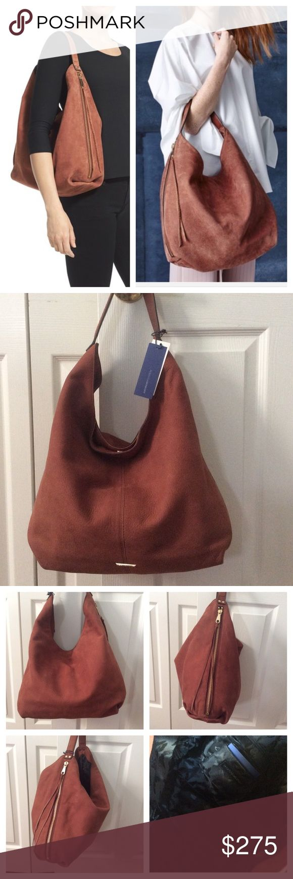 Rebecca Minkoff Suede Double Zipper Hobo Whiskey Price is firm on Poshmark. Brand new no flaws. Comes with extra tassels and dust bag. Rebecca Minkoff Bags Hobos