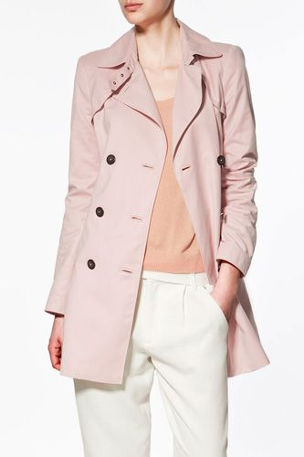 10 Cute Trench Coats Under $100 (And One Awesome Splurge!) #refinery29  http://www.refinery29.com/28085#slide3  Zara Short Trench Coat $99.90, available at Zara 580 Broadway (at Prince Street); 212-343-1725.