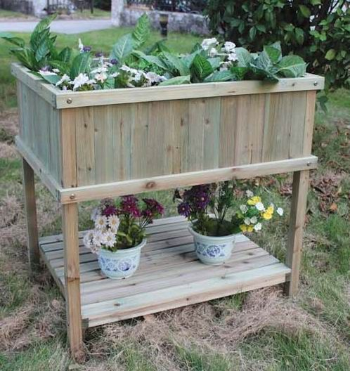 17 best images about wonderful wooden garden accessories for Vegetable garden planters