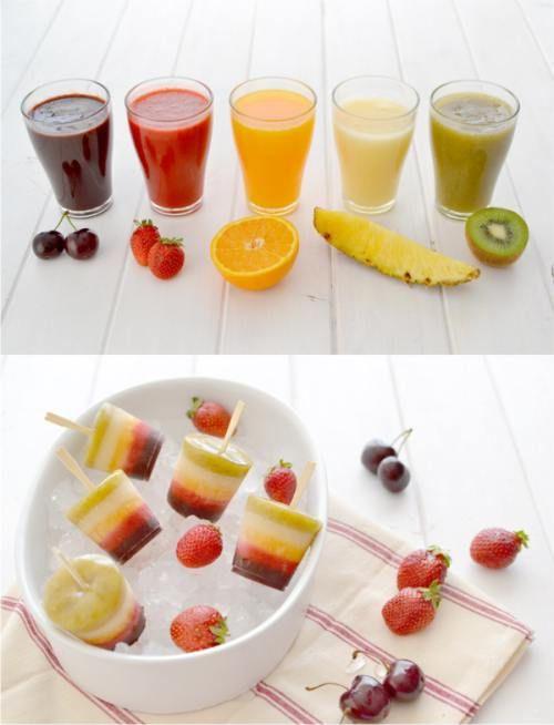 Ingeniosos helados caseros con fruta natural
