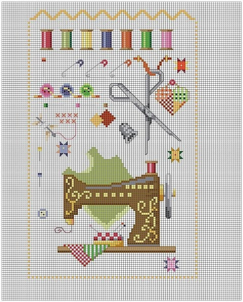 sewing cross-stitch