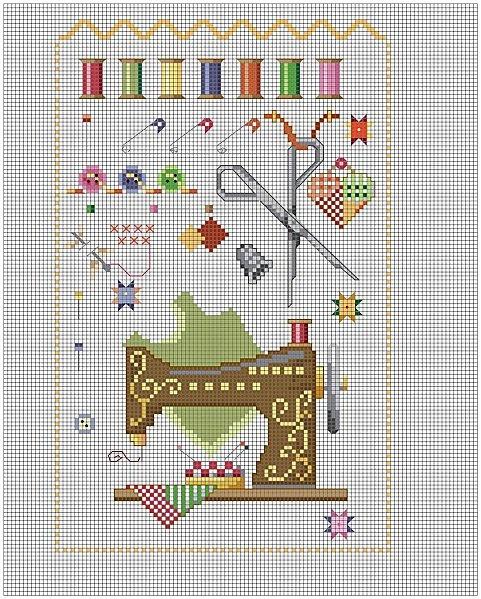 sewing cross-stitch