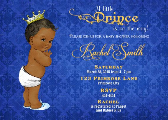 11 best shaes babyshowers a boy images on pinterest royal vintage royal blue damask and gold african american prince baby shower invitation by cuddlebuginvitations filmwisefo