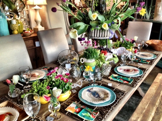 Spring Tablescape From J. Allanu0027s In Brookhaven, Mississippi