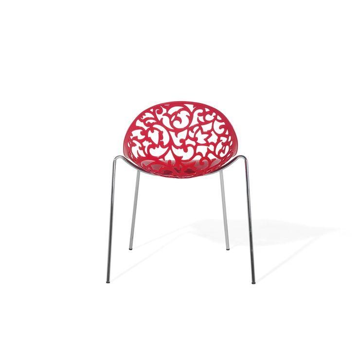 Beliani Mumford Red Dining Chair (Plastic)