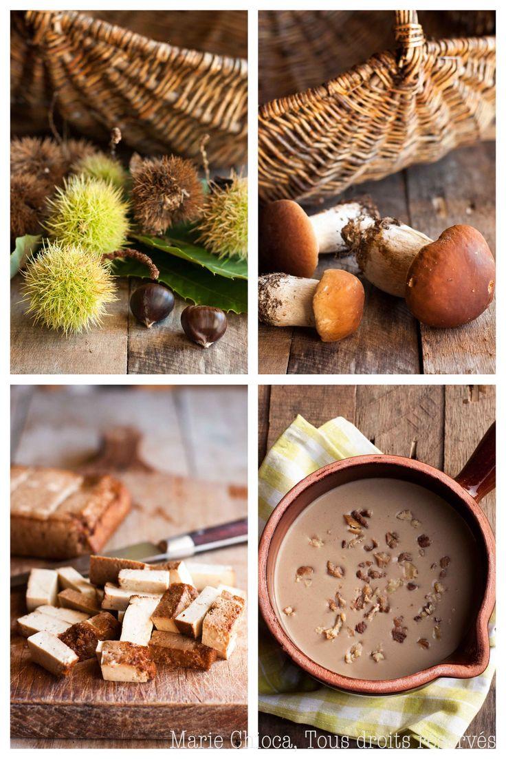 Velouté des bois aux cèpes et aux châtaignes (Vegan, Sans lait, Sans gluten, Sans oeufs, IG bas)