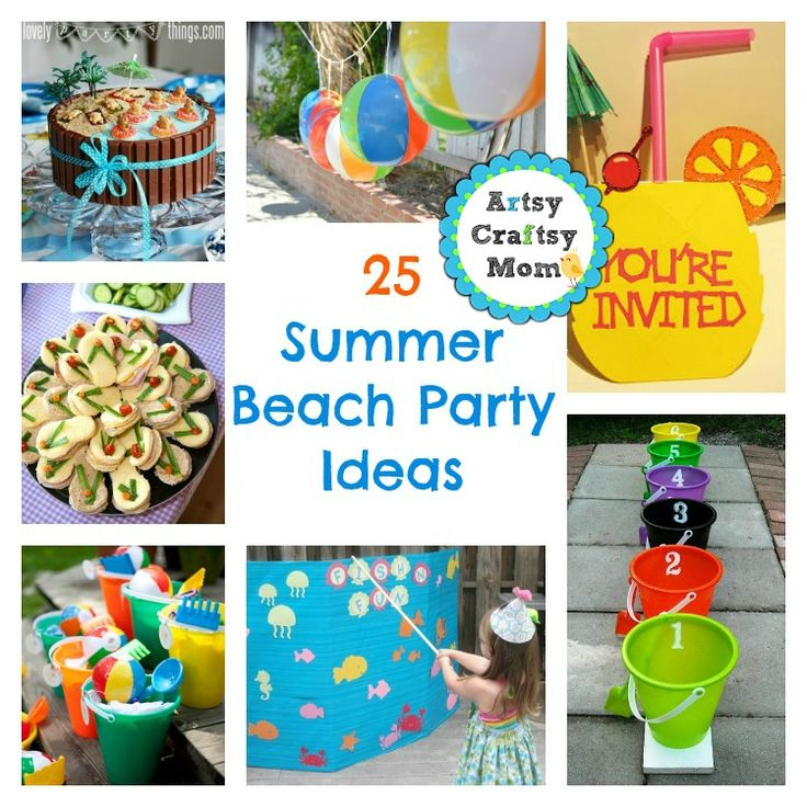 Here are 25 summer beach party ideas to help you kick start some serious summer fun!