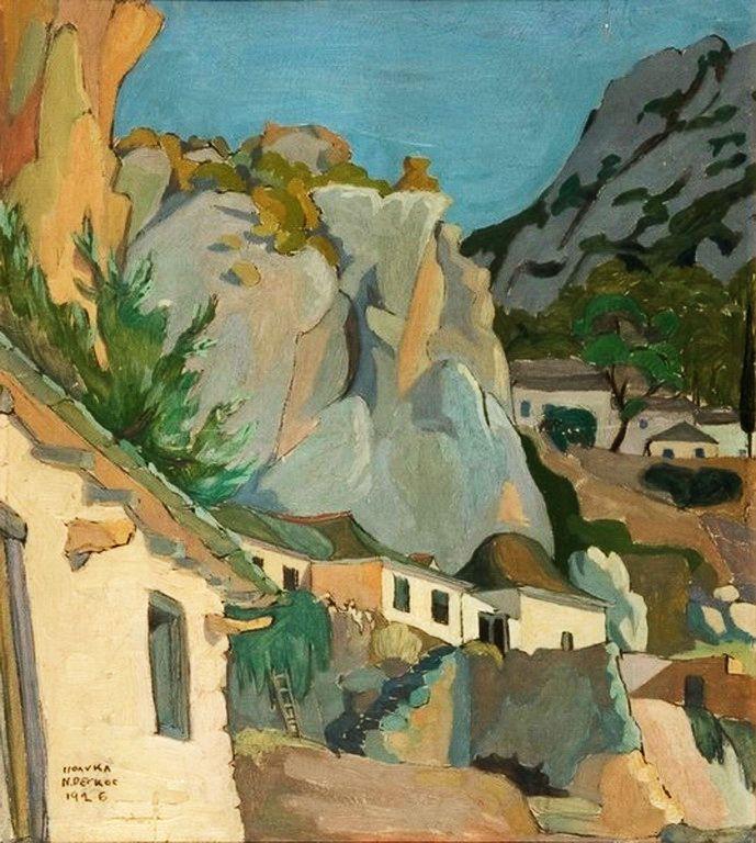 Ρέγκος Πολύκλειτος-Άγιο Όρος, κελλιά στη μονή Αγίας Άννης, 1926