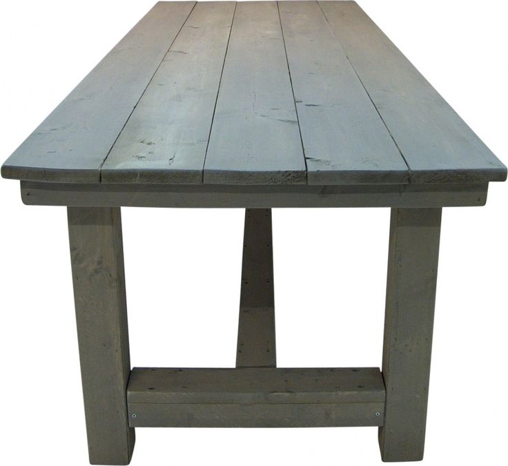 Kloostertafel van steigerhout behandeld met greywash (252013KLT)