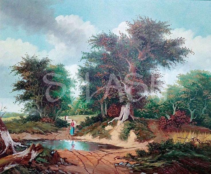 Cuadro paisaje con árboles SP399