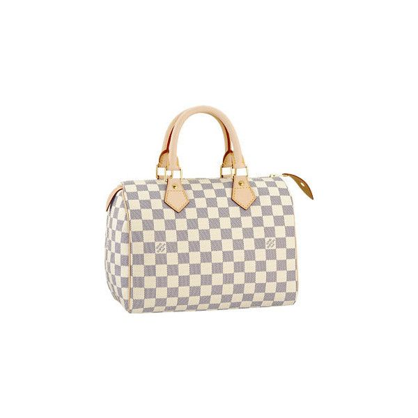 Speedy 25 ($750) ❤ liked on Polyvore featuring bags, handbags, borse, louis vuitton, purses, bolsas, women, canvas man bag, metallic handbags and man bag