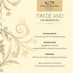 O último dia do ano que acaba e o primeiro do que começa são especiais. Passe um deles connosco, no Hotel Açores Lisboa :)  www.bensaude.pt/hotelacoreslisboa  #reveillon2015 #hotel #lisboa #fimdeano