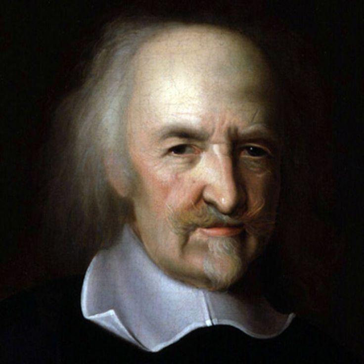 Thomas Hobbes was een Engels filosoof en leefde van 1588-1679. Hij ging ervan uit dat de mens alleen maar wilt overleven. Zo werden mensen concurrenten van elkaar. Een bekende uitspraak van Hobbes was Homo homini lupus est ( de mens is voor zijn medemens een wolf.) Hobbes dacht dat mens uiteindelijk zichzelf zou uitroeien. Volgens hem was de enige manier om uitroeiing te voorkomen een absoluut vorst. deze vorm van regeren werd het absolutisme genoemd.