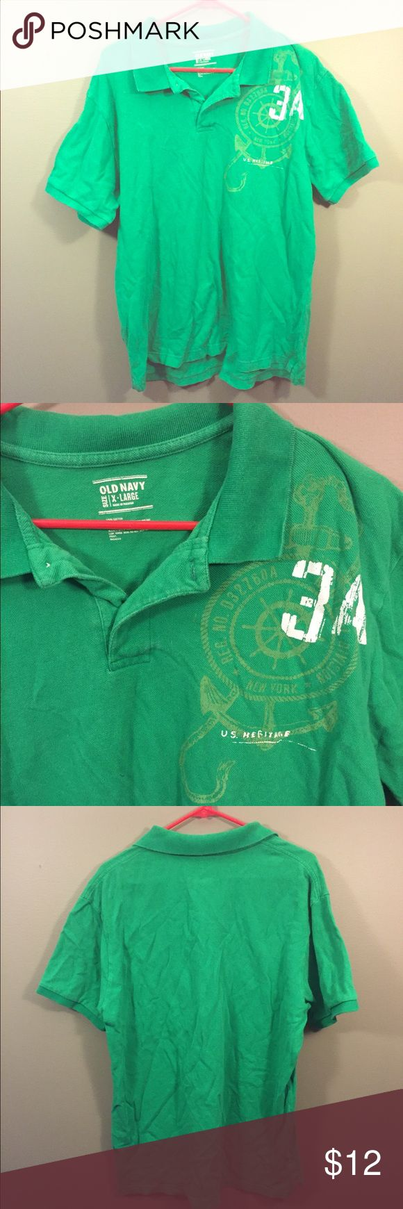 Old Navy Green Polo Shirt Sz XL Good condition! Thank you for looking! Old Navy Shirts Polos