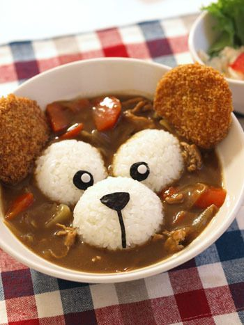 Duffy rice curry (Not quite right for Bento, but cute and edible all at the same time!)