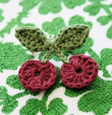 Crochet Cherries.