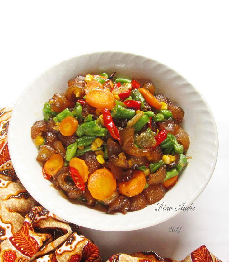 Oseng Kikil Pedas Dan Sayur