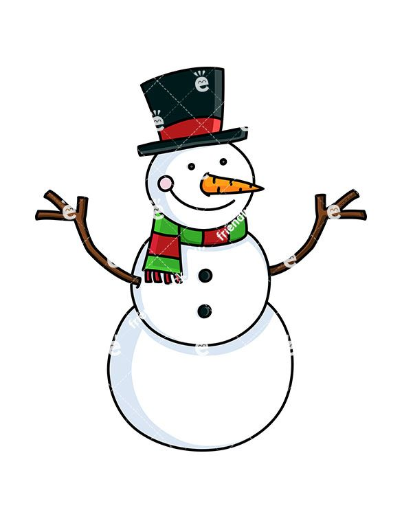 A Cute Snowman With Hat And Christmassy Scarf | Cute ...
