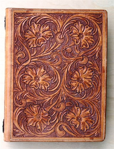 love this hand tooled leather day planner  sr leather crafts texas